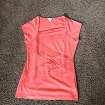 Anthropologie Orange/coral Shirt Pleats Size Small Photo