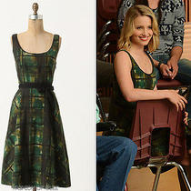 Anthropologie Painted Plaid Dress - as Seen on Glee and New Girl Nwt Photo