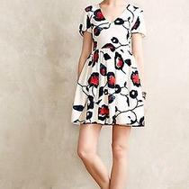 Anthropologie Painted Poppies Dresssize Photo