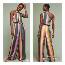 Anthropologie Pandora Striped Jumpsuit Size Xl Photo