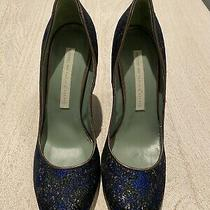 Anthropologie Paola Darcano Embroided Heels Womens Size 41 Photo