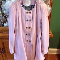 Anthropologie Parker Blush Pink Elevenses Double Breasted Swing Coat Photo