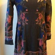 Anthropologie Petal Blush Sweater Dress by Knitted & Knotted Sz M Photo