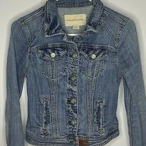 Anthropologie Pilcro and the Letterpress Avie Sz Xs Distressed Denim Jacket Photo