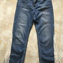 Anthropologie Pilcro and the Letterpress Sequined Stretch Jeans Size 30 Photo