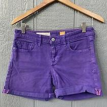 Anthropologie Pilcro and the Letterpress Stet Fit Denim Shorts Size 27 Purple 6 Photo