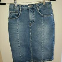 Anthropologie Pilcro Denim Jean Blue Skirt Size 2 Photo