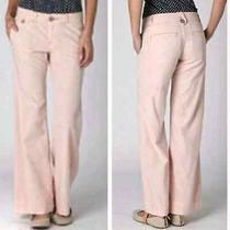 Anthropologie Pilcro Lightweight Wide Leg Trousers Women's 26 Blush Pink 128 Photo
