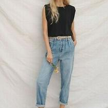 Anthropologie Pilcro Ultra High-Rise Pleated Trouser Jeans Size 27 Photo