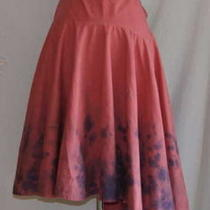 Anthropologie Pink Tie Dye Skirt 6 Small 100% Cotton  Photo