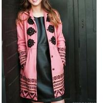 Anthropologie Plenty Tracy Reese Pink Elimovna Coat Size 8 Photo