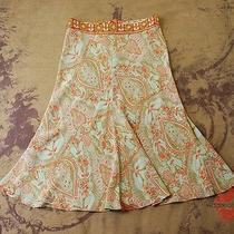 Anthropologie Plenty Tracy Reese Silk Paisley Back Pocket Tie Dress Skirt 4 S Photo
