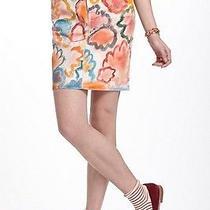 Anthropologie Poppies Hand Painted Denim Skirt Nwt 26 2 Photo