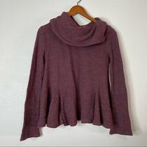 Anthropologie Postmark Waffle Knit Cowl Neck Top Photo