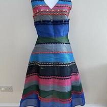 Anthropologie Prisma Striped Dress by Pankaj & Nidhi Blue. Small. Rrp 228 Photo
