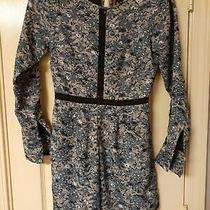 Anthropologie Ranna Gill Women's Blue Floral Hettie Long Sleeve Romper Size Xsp Photo