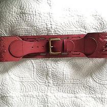 Anthropologie Red Corset Belt Photo