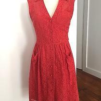 Anthropologie Red Summertime Dress Photo