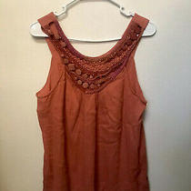 Anthropologie Saivana Pink Boho Embroidered Beaded Tank-Large Photo