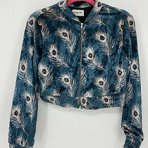 Anthropologie Sam & Lavi Womens Jacket Size Xs Velvet Peacock Cropped  Photo