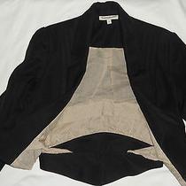 Anthropologie San G Soni Tuxedo Women's Black Jacket Pleated Front Sleeves 6 Photo