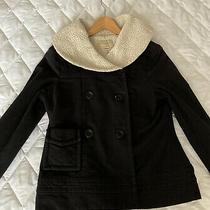 Anthropologie Sanctuary La Soft Sherpa Lined Jersey Black Ladies Jacket Size S Photo