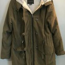 Anthropologie- Sanctuary Lined Hoodie Jacket Coat 198 Green Xs Hardly Worn Zip Photo