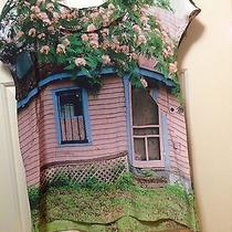 Anthropologie Sarah Ball Photography Pink Cottage House Silk Blouse Size 10 Photo