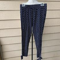 Anthropologie Saturday Sunday Lobelia Joggers Polka Dotted Women Pants Blue S Photo
