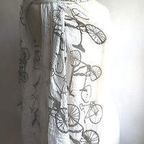 Anthropologie Scarf Oblong Bike Bicycle Wrap Long Accessories  Photo
