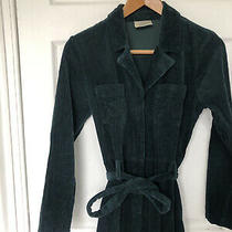 Anthropologie Seen Worn Kept Green Cord Boiler Jumpsuit Size 12 Photo