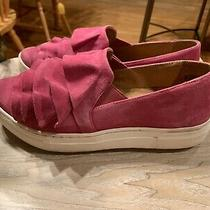 Anthropologie Seychelles Pink Suede Quake Sneakers Size 8.5 Photo