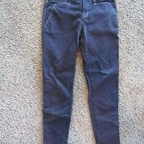 Anthropologie Silence and Noise Top Stitched Cotton Blend Black Women's Pants 8 Photo