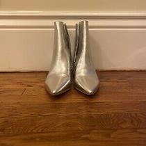 Anthropologie Silent D Silver Boots Size 38 Photo