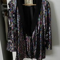 Anthropologie Size S Roza Sequin Oversize Blazer by Cartonnier Photo