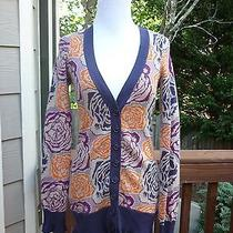 Anthropologie Sleeping on Snow Blooming Jacquard Cardigan Xs Photo