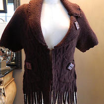 Anthropologie Sleeping on Snow Brown Cardigan Sweater S  Photo