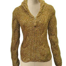 Anthropologie Sleeping on Snow Fisherman Cable Knit Cardigan Sweater Jacket S Photo