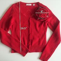 Anthropologie Sleeping on Snow Red Flower Knitted Sweater- Xs Photo