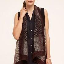 Anthropologie Sleeping on Snow Size M/l Mabli Vest Brown Red Knit Geometric New Photo