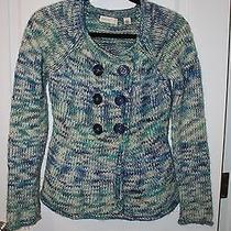 Anthropologie Sleeping on Snow Sweater Cardigan Blue Xs Photo