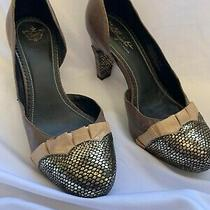 Anthropologie Slinking Frills Pumps Miss Albright Shoes 188 8.5 Platform Heels Photo