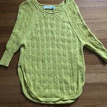 Anthropologie Sparrow Brand Bright Yellow Knit Sweater Size Xs Photo
