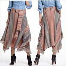 Anthropologie Sparrow Converged Stripes Knit Sweater Maxi Skirt - Size Small Photo