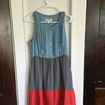 Anthropologie Summer Dress Size 2 Fully Lined Block Colors Pre-Owned  Photo