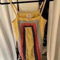 Anthropologie Sun Dress Yellow Size S Photo