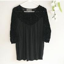 Anthropologie Sunday in Brooklyn Black Pullover Top Women's Small Shirt Photo