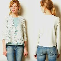 Anthropologie Sunday in Brooklyn Size Xs Deluna Cardigan Jacket White Open Front Photo