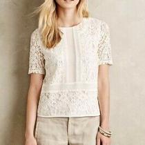 Anthropologie Sunday in Brooklyn White Lace Top Size Xs Photo