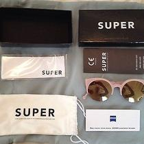 Anthropologie Super Lucia Rose Pink Nude Pussycat Cat Eye Sunglasses New in Box  Photo